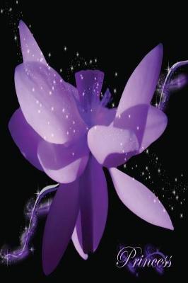 Diary - Journal - Princess Purple Flower (Paperback)