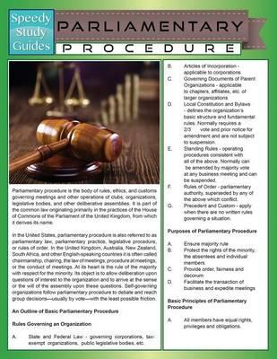 Parliamentary Procedure (Paperback)