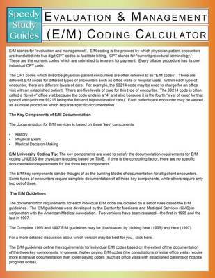 Evaluation & Management (E/M) Coding Calculator (Paperback)