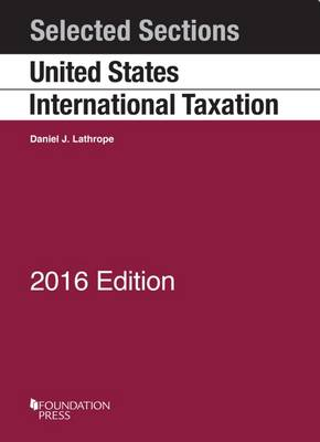 Selected Sections on United States International Taxation - Selected Statutes (Paperback)