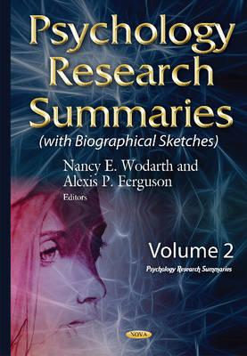 Psychology Research Summaries: Volume 2 (Hardback)