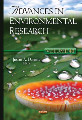 Advances in Environmental Research: Volume 40 (Hardback)