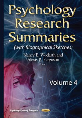 Psychology Research Summaries: Volume 4 (Hardback)