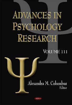 Advances in Psychology Research: Volume 111 (Hardback)