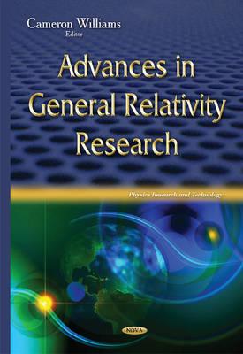 Advances in General Relativity Research (Hardback)