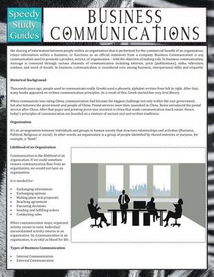 Business Communications (Speedy Study Guide) (Paperback)