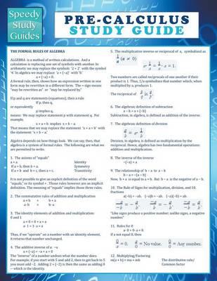 Pre-Calculus Study Guide (Speedy Study Guide) (Paperback)