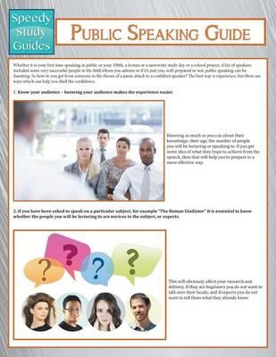 Public Speaking Guide (Speedy Study Guide) (Paperback)