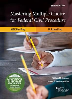 Mastering Multiple Choice for Federal Civil Procedure MBE Bar Prep and 1L Exam Prep - Career Guides (Paperback)