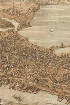 1876 Bird's Eye View Map of the City of Portland, Maine: A Poetose Notebook / Journal / Diary (50 pages/25 sheets) - Poetose Notebooks: Boston (Paperback)