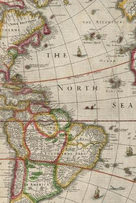 1662 Map of South America and North America: A Poetose Notebook / Journal / Diary (50 pages/25 sheets) - Poetose Notebooks (Paperback)