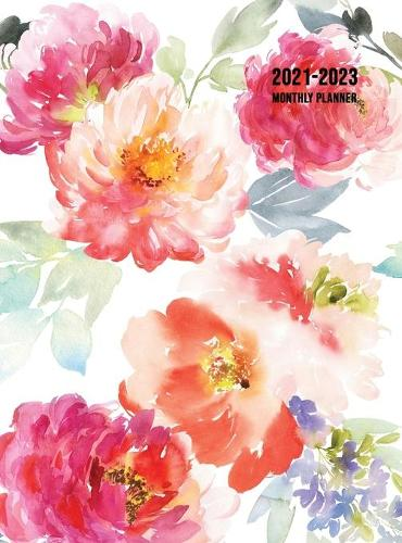 2021-2023 Monthly Planner: Large Three Year Planner with Floral Cover (Volume 1 Hardcover) (Hardback)