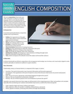English Composition (Speedy Study Guide) (Paperback)