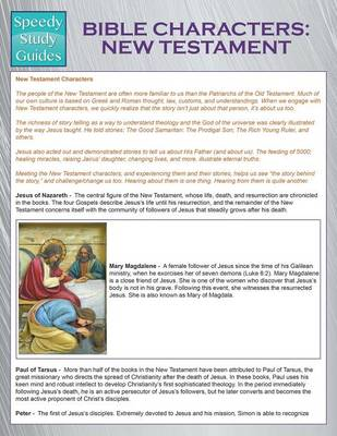 Bible Characters: New Testament (Speedy Study Guides) (Paperback)
