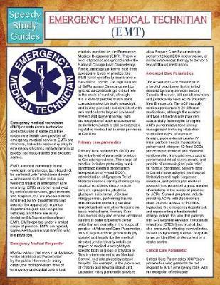 EMT- Emergency Medical Technician (Speedy Study Guides) (Paperback)