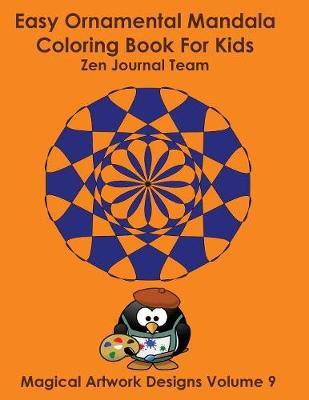 Easy Ornamental Mandala Coloring Book for Kids (Paperback)