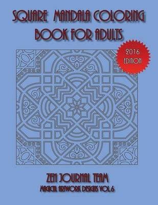 Square Mandala Coloring Book for Adults (Paperback)