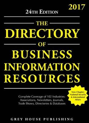 Directory of Business Information Resources, 2017 (Paperback)