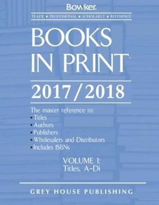 Books in Print, 2017-18: 7 Volume Set (Hardback)