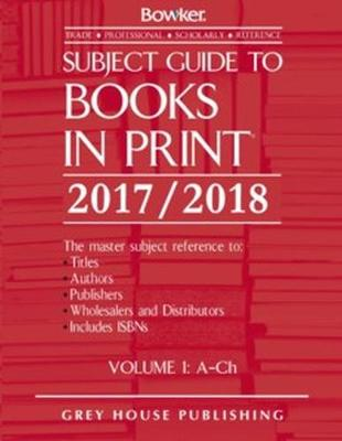Subject Guide to Books In Print, 2017/18: 6 Volume Set (Hardback)