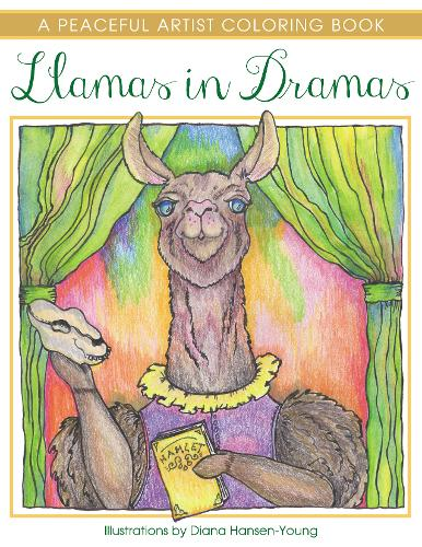 Llamas in Dramas: A Peaceful Artist Coloring Book (Paperback)