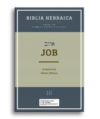 Biblia Hebraica Quinta: Job (Paperback)