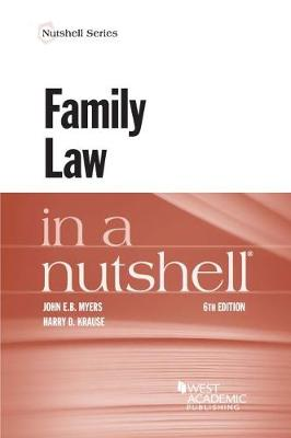 Family Law in a Nutshell - Nutshell Series (Paperback)