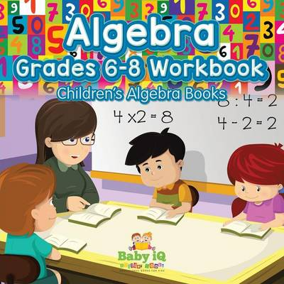Algebra Grades 6-8 Workbook Children's Algebra Books (Paperback)