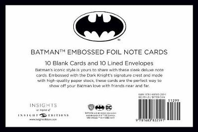 DC Comics: Batman Foil Note Cards (Set of 10) (Paperback)