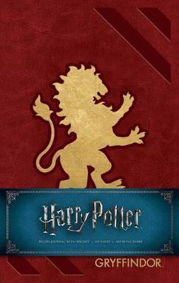 Harry Potter: Gryffindor Hardcover Ruled Journal (Hardback)
