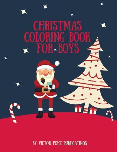 Christmas Coloring book for Boys (Paperback)