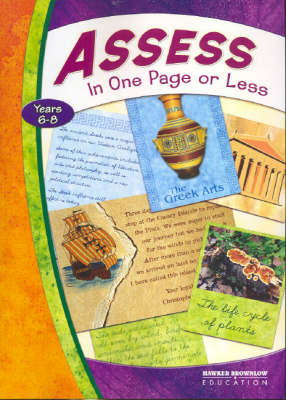 Assess in One Page or Less: Grade 6-8 (Paperback)