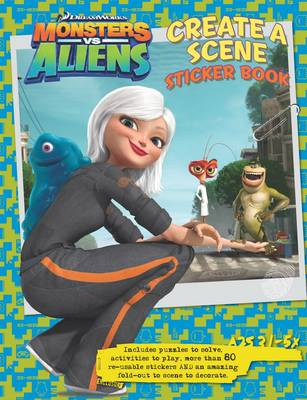 Monsters Vs Aliens Create a Scene Sticker Book (Paperback)