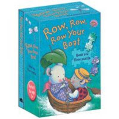 Row, Row, Row Your Boat - Nursery Songs Book & Floor Puzzle (Board book)