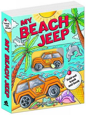 My Beach Jeep Fold-out Track Book (Board book)