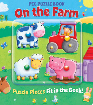 Peg Puzzle Book - On the Farm (Board book)