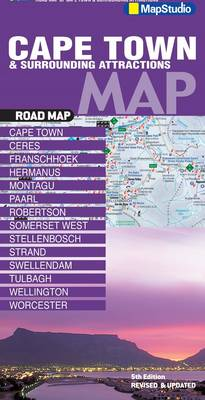 Road map Cape Town & surrounding attractions (Sheet map, folded)