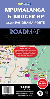 Mpumalanga & Kruger National Park includes panorama route road map (Sheet map, folded)