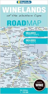 Road map Winelands of the Western Cape (Sheet map, folded)