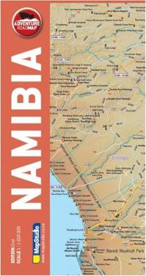 Adventure road map Namibia (Sheet map, folded)