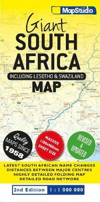 Giant South Africa map: Including Lesotho & Swaziland (Sheet map, folded)