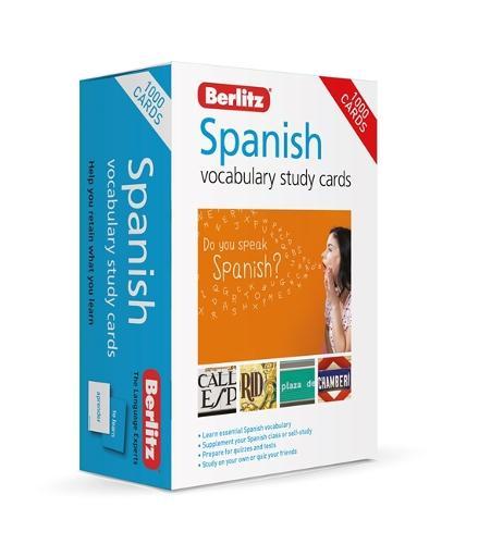 Berlitz Spanish Study Cards (Language Flash Cards) - Berlitz Vocabulary Study Cards
