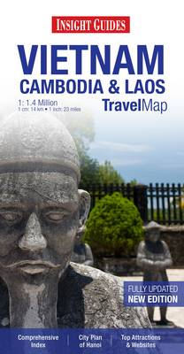 Insight Travel Map: Vietnam, Cambodia & Laos (Paperback)