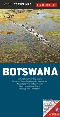 Botswana - Globetrotter Travel Map (Sheet map, folded)