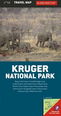 Kruger National Park - Globetrotter Travel Map (Sheet map, folded)