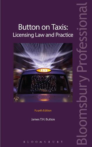 Button on Taxis: Licensing Law and Practice (Hardback)
