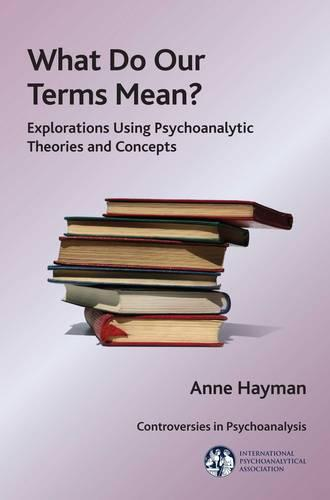 What Do Our Terms Mean?: Explorations Using Psychoanalytic Theories and Concepts - The International Psychoanalytical Association Controversies in Psychoanalysis Series (Paperback)
