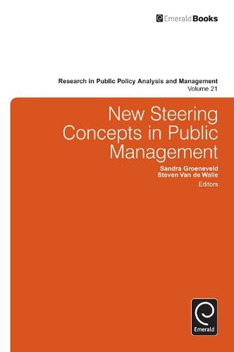 New Steering Concepts in Public Management - Research in Public Policy Analysis and Management 21 (Hardback)