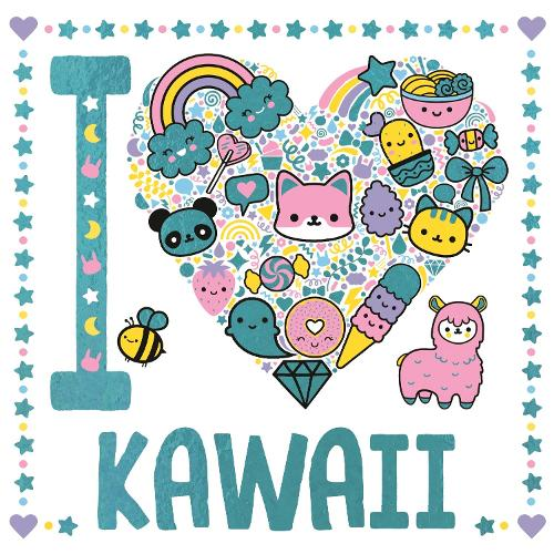I Heart Kawaii - I Heart Colouring (Paperback)