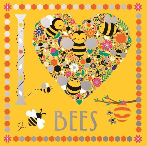 I Heart Bees - I Heart Pocket Colouring (Paperback)